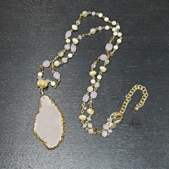 Long Pink Fashion Necklace